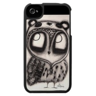 Owl in Panda Hat - iPhone cover by InkyDreamz