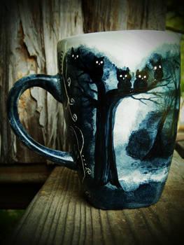 The Dark Trail - Handpainted Mug