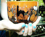 Halloween Mug - Handpainted 22-Ounce latte/soup