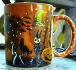 Halloween Tree - Handpainted mug for sale by InkyDreamz