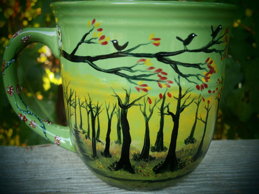 Autumn Meadow - Handpainted Mug by InkyDreamz