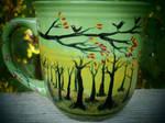 Autumn Meadow - Handpainted Mug