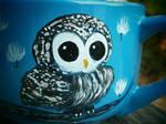 Blue Owl latte/soup mug