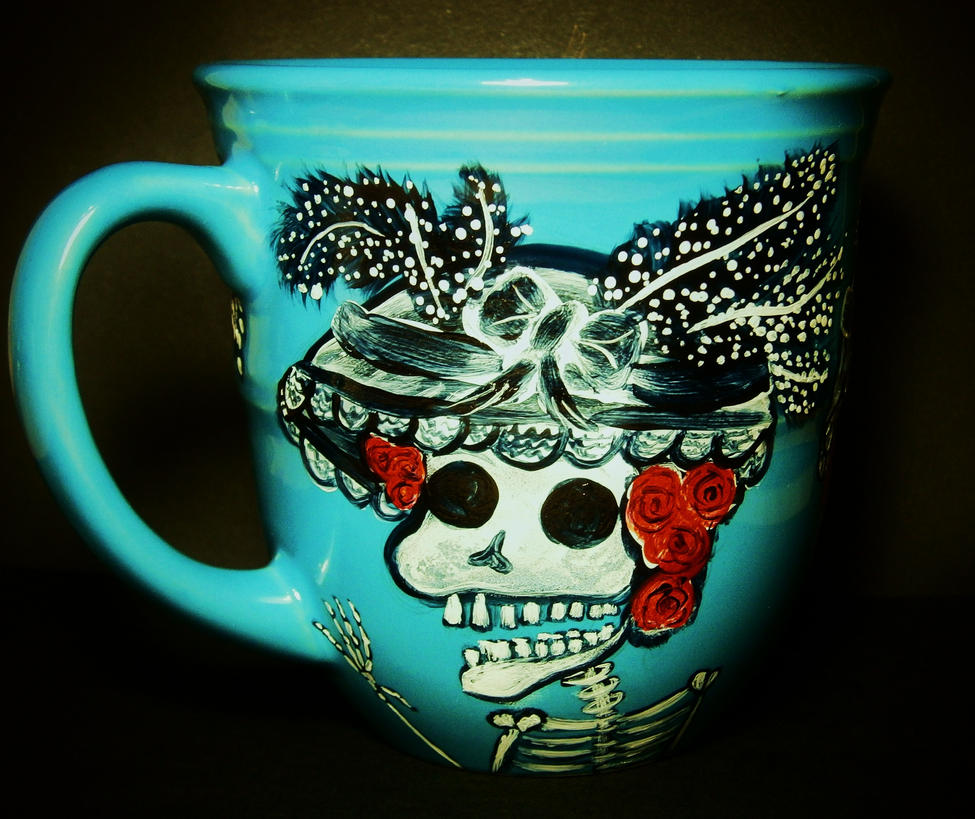 Skeletal Ladies - Day of the Dead Catrinas Mug by InkyDreamz