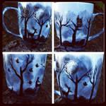 Dark Forest -Handpainted 12 ounce mug for sale