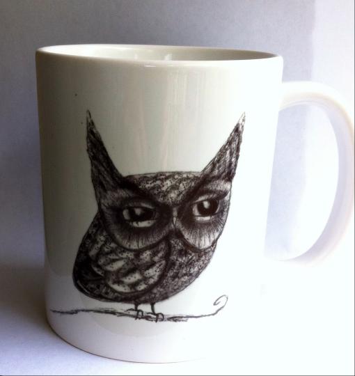 Owl Mug - Available now! by InkyDreamz