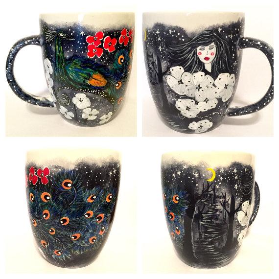 Midnight Garden Coffee Mug for sale by InkyDreamz