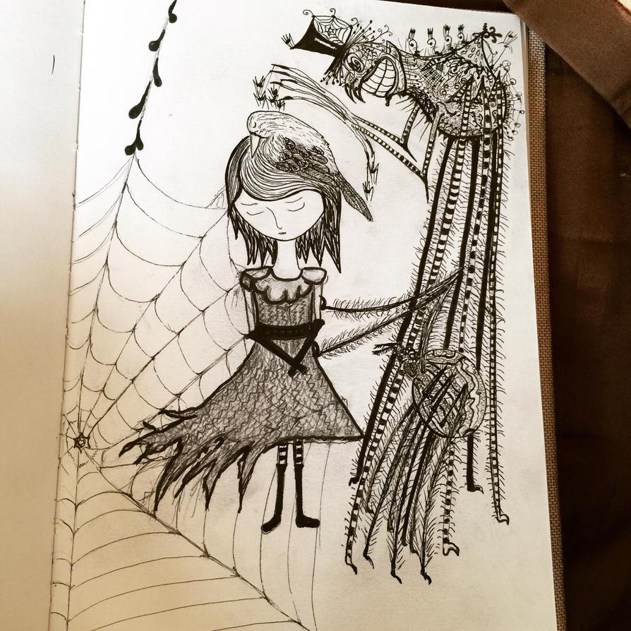 Spider bite by InkyDreamz