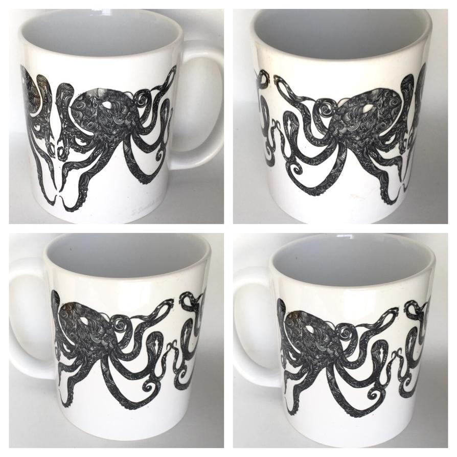 Octopus coffee mug by InkyDreamz