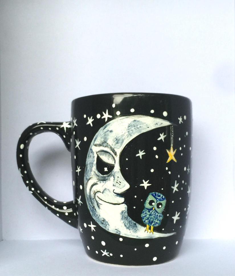 The Moon Coffee Mug by InkyDreamz