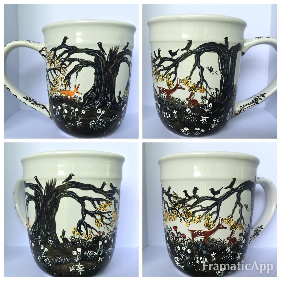 The Forest Coffee Mug by InkyDreamz