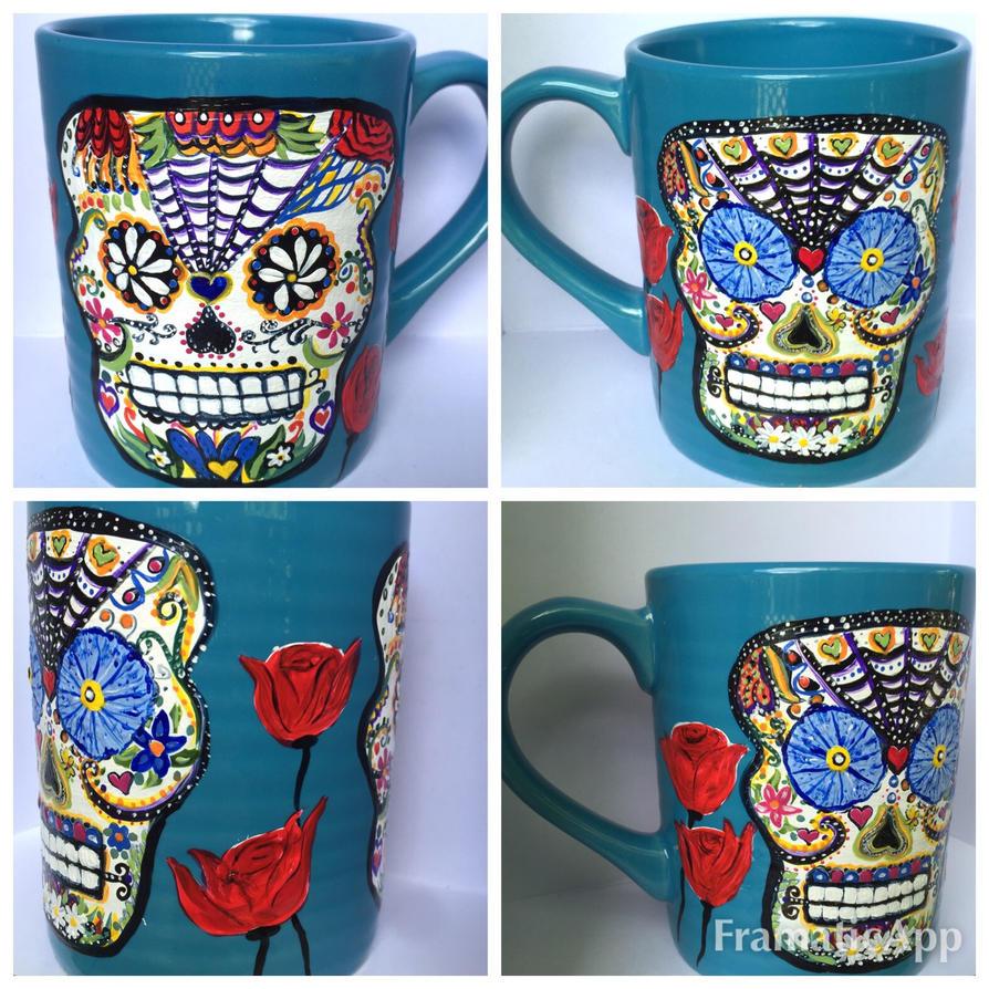 Sugar Skull Coffee Mug  by InkyDreamz