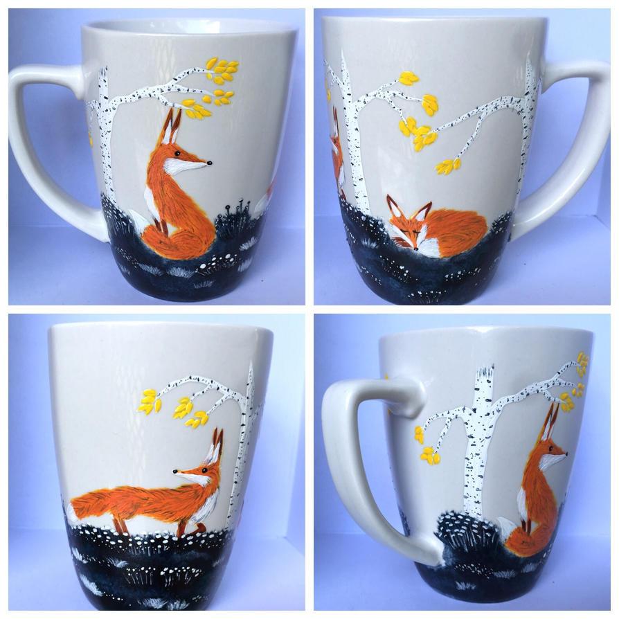 Red Fox Mug new at my etsy shop! by InkyDreamz