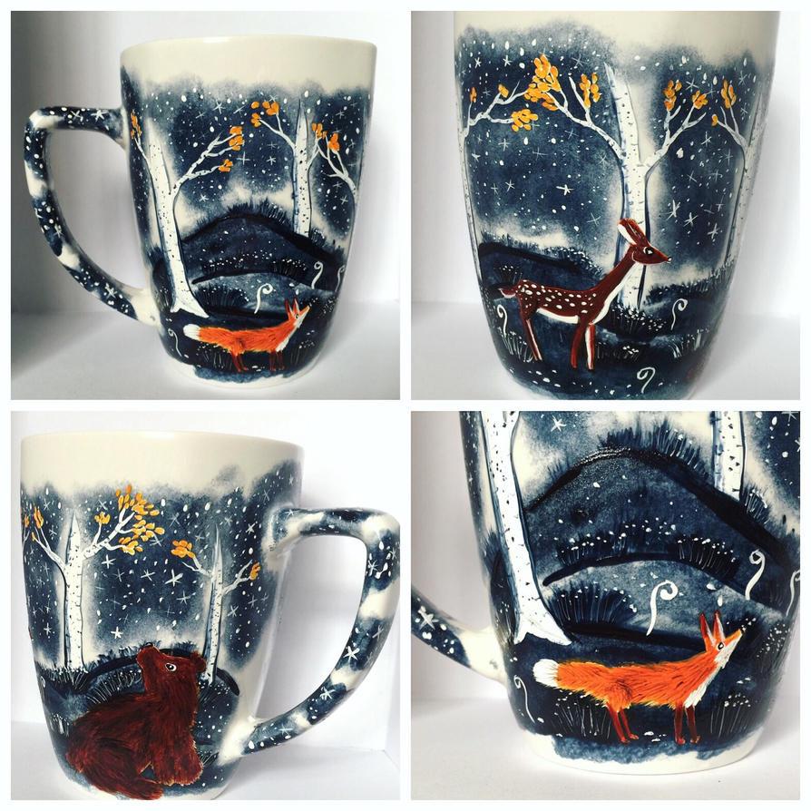 Forest Magic Coffee Mug  by InkyDreamz