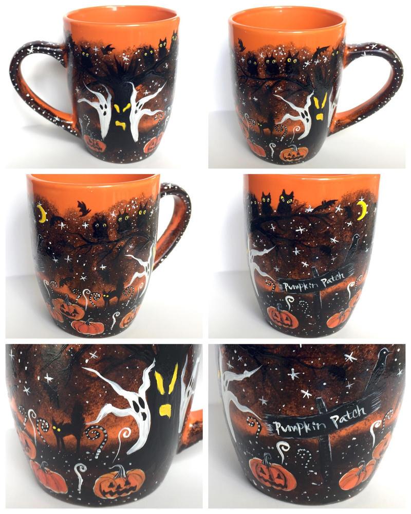Halloween Coffee Mug - handmade at my shop! by InkyDreamz