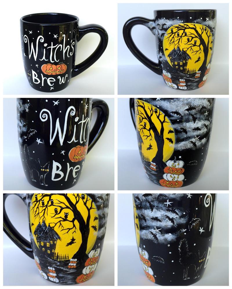 Witch's Brew Halloween Mug  by InkyDreamz