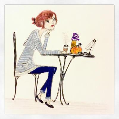 Coffee Shop Girl by InkyDreamz