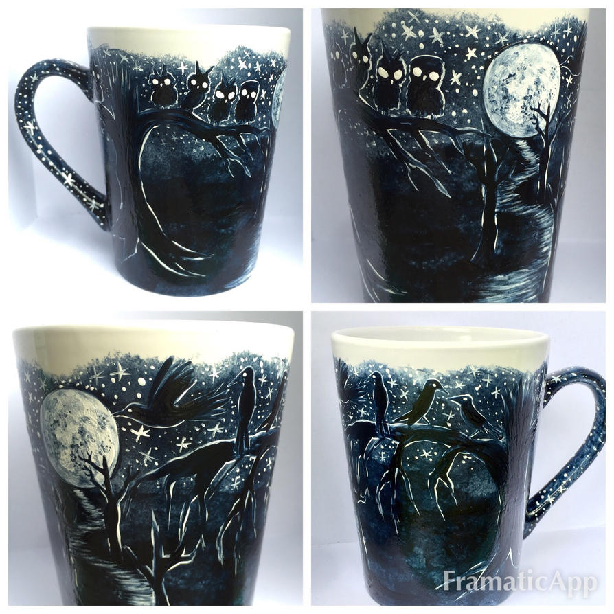 Dark Trail Coffee Mug - made to order at my shop! by InkyDreamz