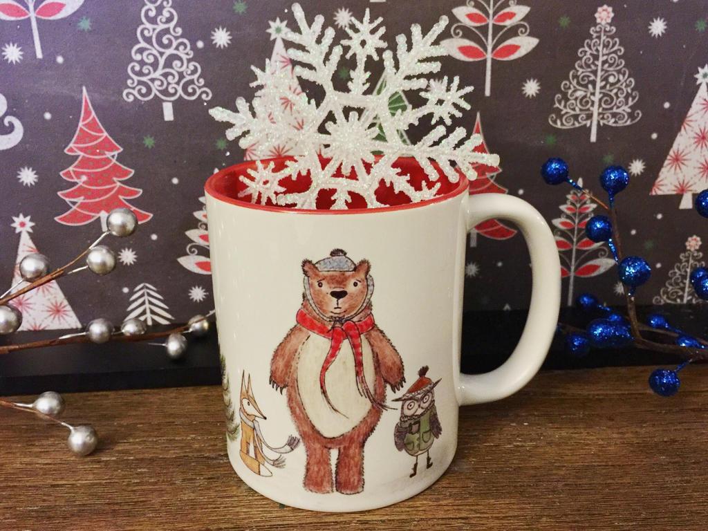 Woodland Christmas Coffee Mug for sale  by InkyDreamz
