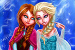 Anna and Elsa Fan Art