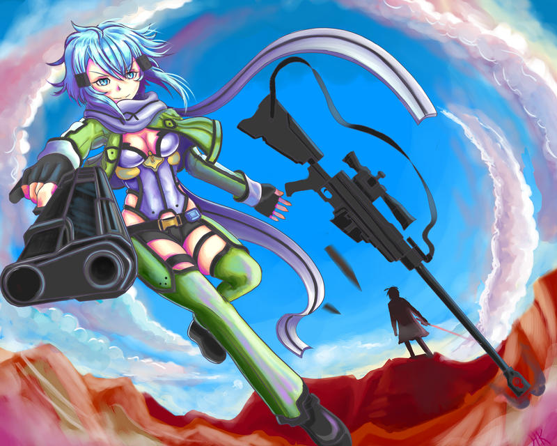SiNON SWORD ART ONLiNE 2 color by Phoenixboy