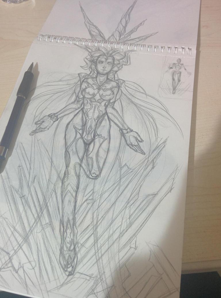 SHIVA Final Fantasy 14 A realm reborn Sketch by Phoenixboy