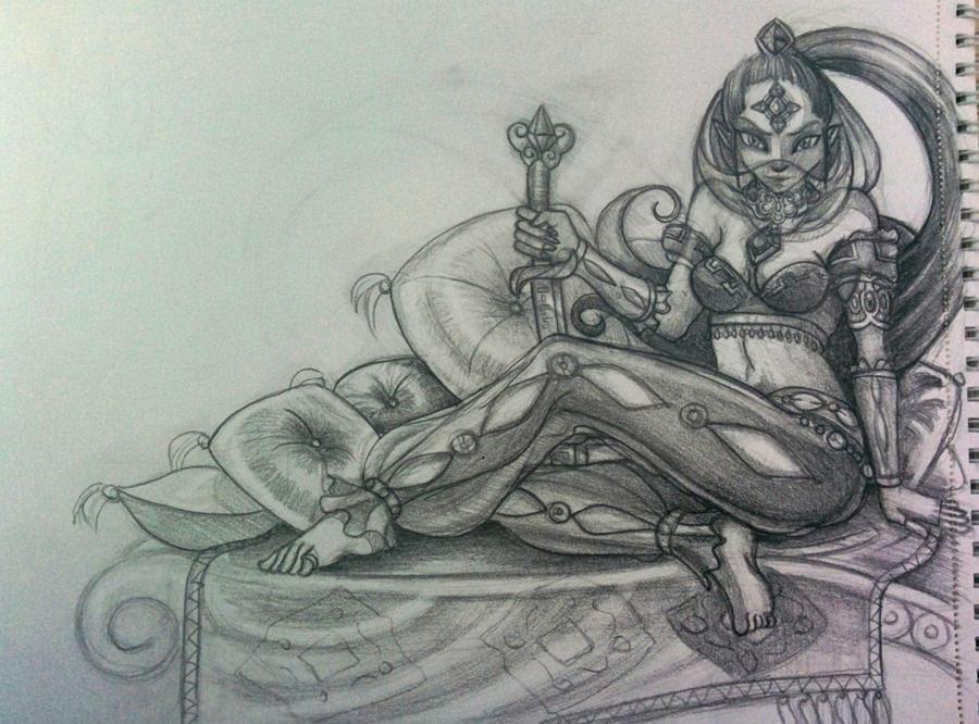 MAJORA'S MASK GERUDO PRINCESS Sketch by Phoenixboy