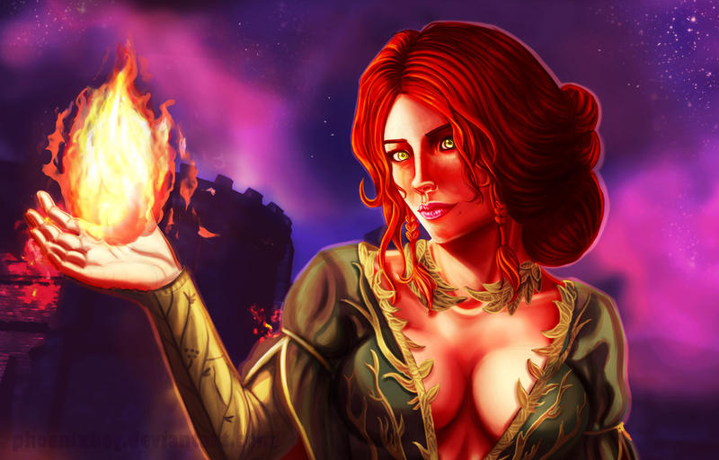 Triss Merigold the Witcher 3 Close up by Phoenixboy