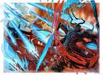 Paladin VS Ravana Final Fantasy 14 FAN ART