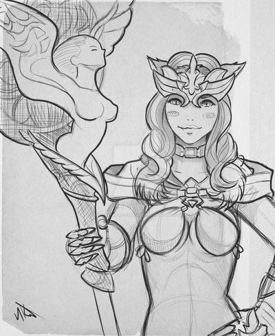 Whm Miqote commission sketch by Phoenixboy