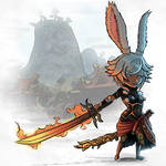 Chibi Samurai Viera FFXIV by Arc-Tempered-PhoeniX