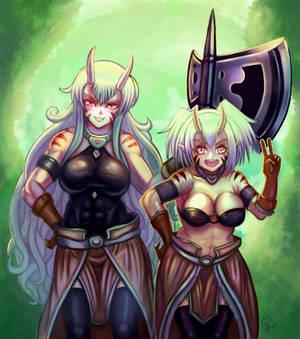 Ogre sisters Fan art