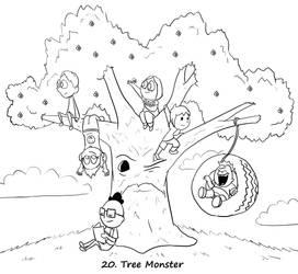 Monster a Day 20- Tree Monster