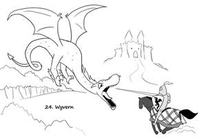 Monster a Day 24- Wyvern