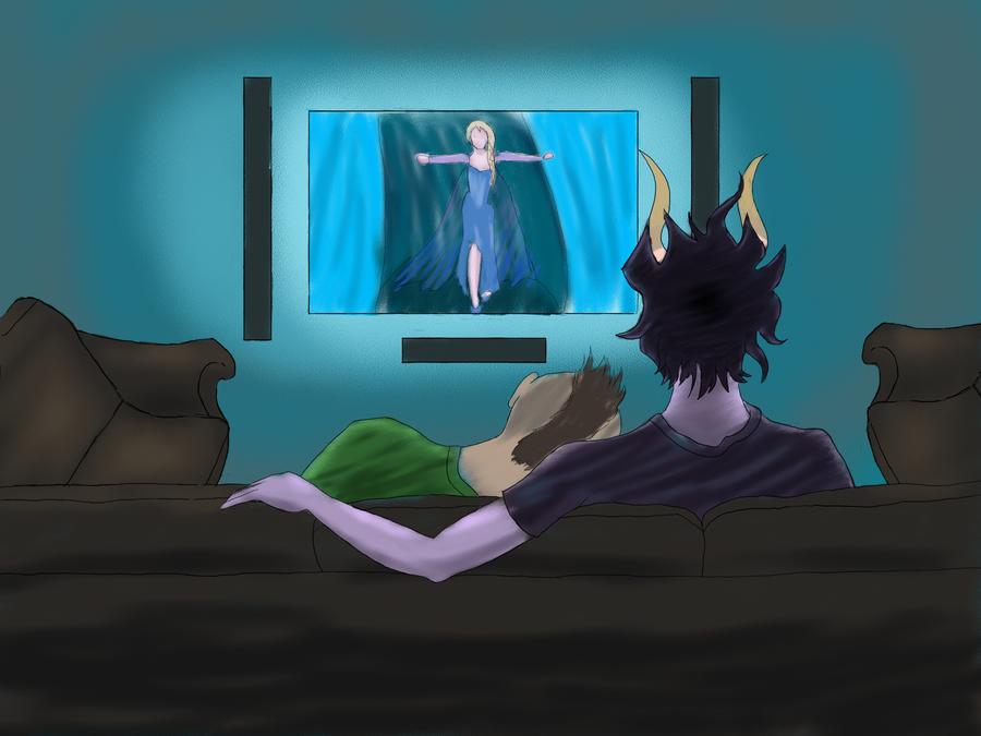 Movie Night by CuddleFish124