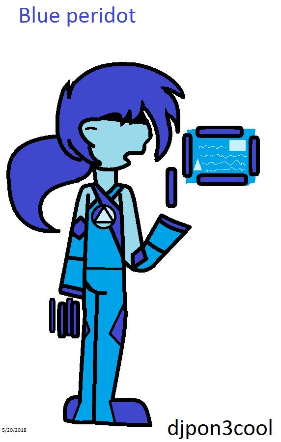 blue peridot by Djpon3cool