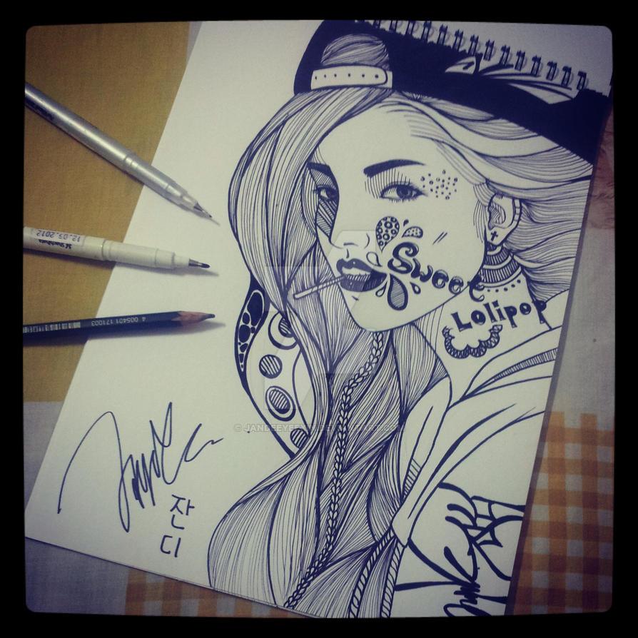 Hip Hop Girl By Jandeeyeexin On Deviantart