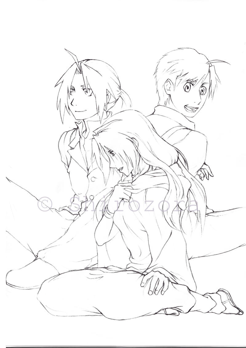 After Shamballa - lineart WIP by Shirozora