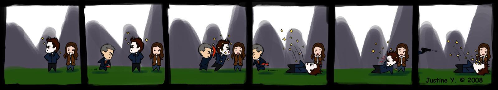 Edward Cullen gets fishslapped by Shirozora