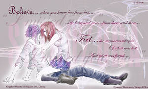 Believe:Feel - Zexion x Kairi by Shirozora