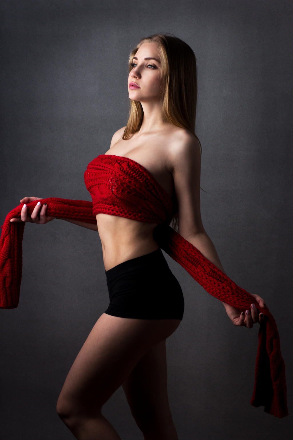red scarf 2 by Aledgan