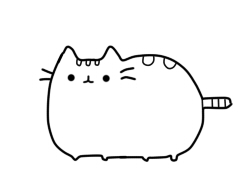 Pusheen Cat Coloring Pages Sketch