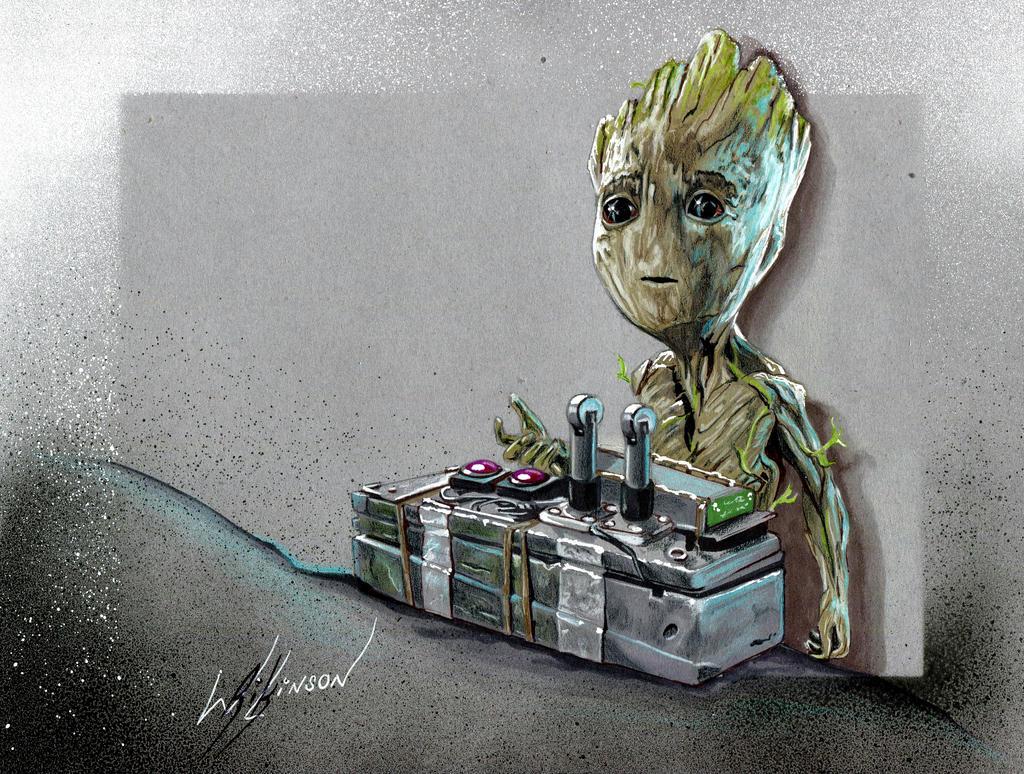 Baby Groot  by Rikwilkinsonartist