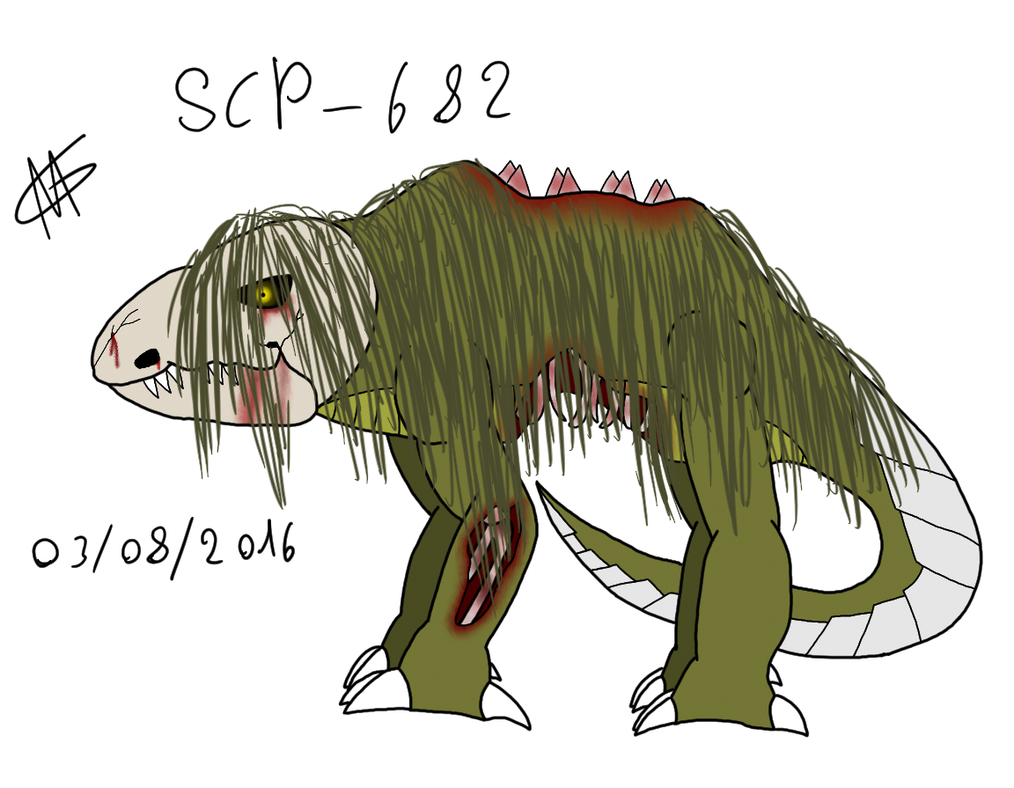 Scp 682 by Superfluffy28