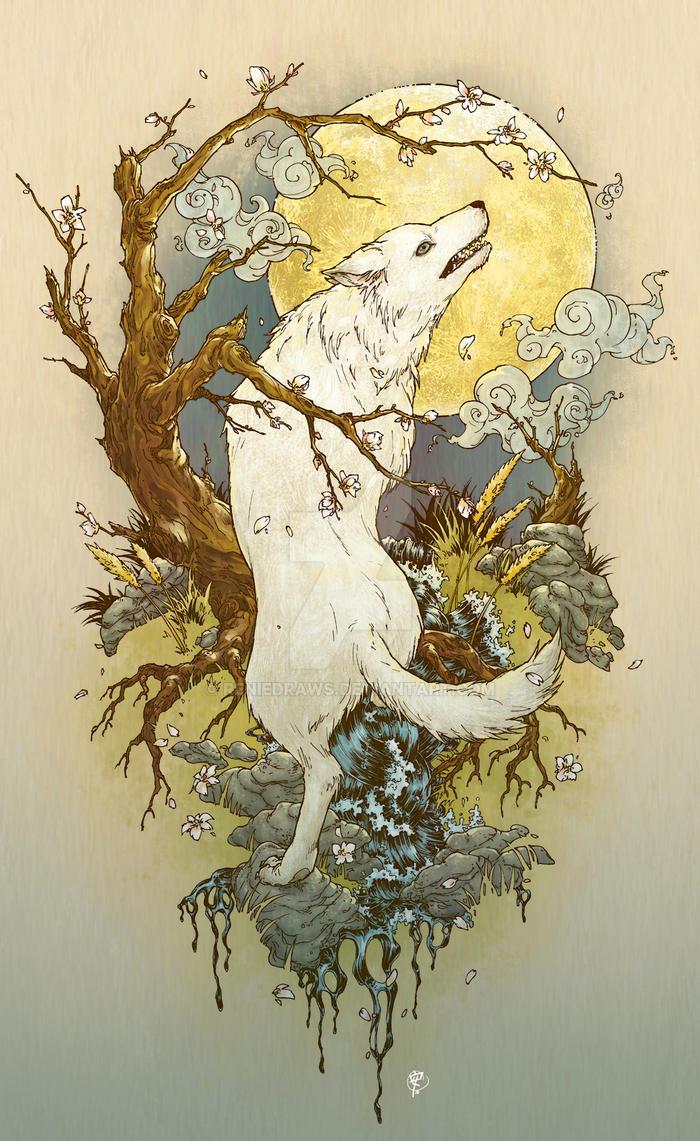 Whitewolf tat by RenieDraws