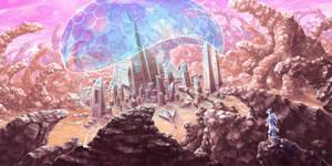 Mooncharter: Yamose city by RenieDraws