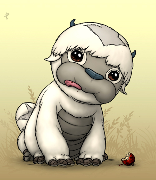 Avatar Aang With Hair: Mini-Appa By RenieDraws On DeviantArt