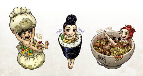 FOOD FAIRYS colored by RenieDraws