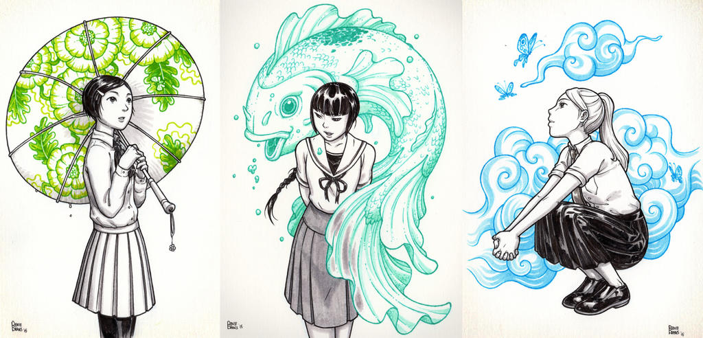 Uniforms and fantasy worlds by RenieDraws