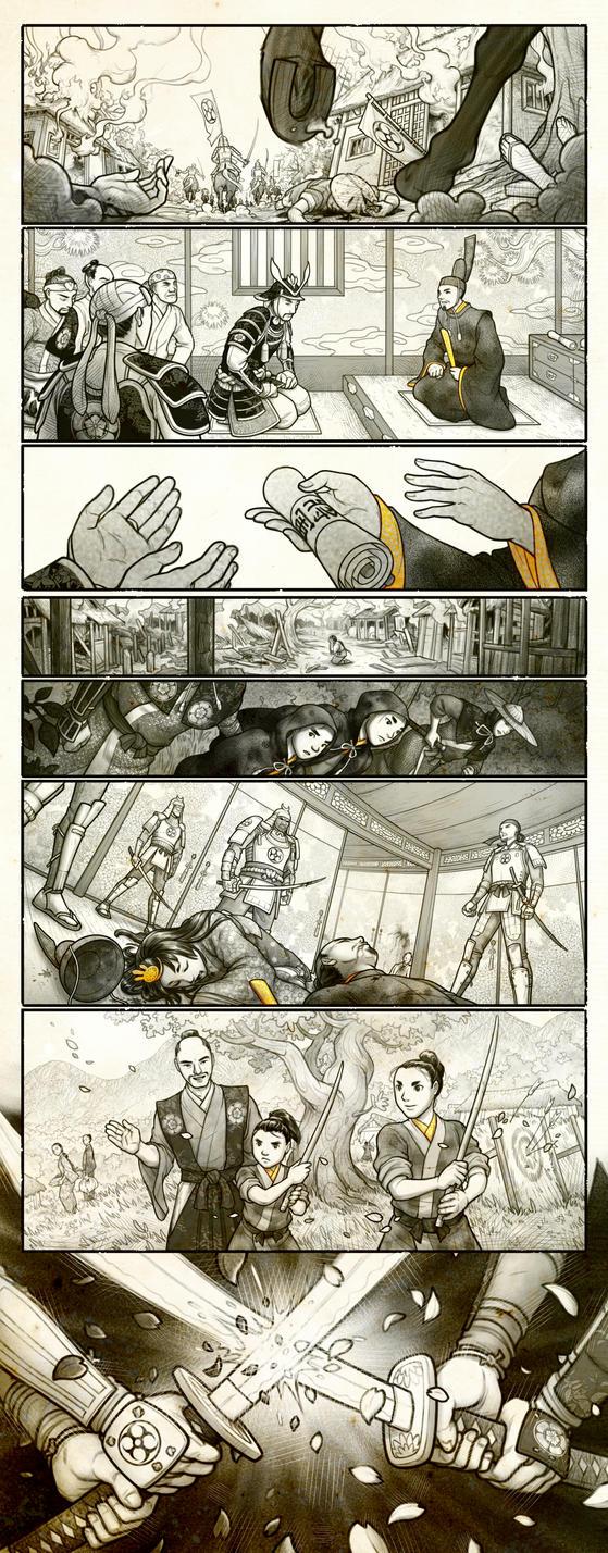 Hanako lore comic by RenieDraws